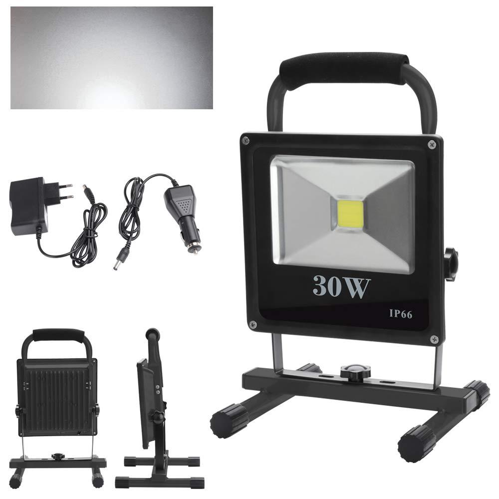 Terrasse Garage Jardin Abri etc Wolketon 50W Blanc Chaud LED Rechargeable Portable Projecteur Pour Camping