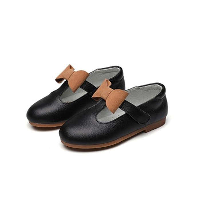 Dolwins Girls Flower Low Heeled Dress Shoes Ballet Flat