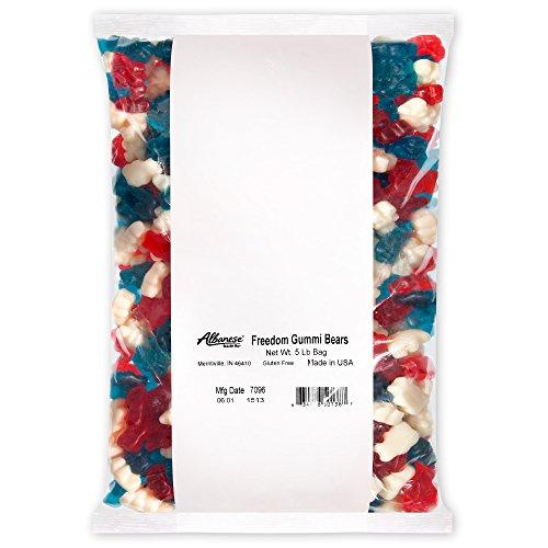 Albanese Candy, Freedom Gummi Bears, 5 Pound -