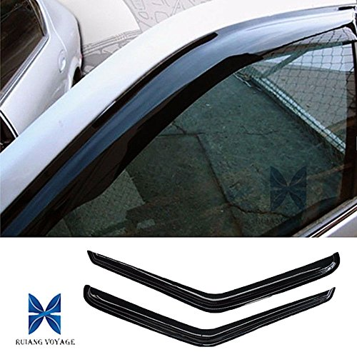 RUIANG VOYAGE Fit 94-04 Chevy S10 Pickup 95-05 Blazer 2-Door SUV 94-04 GMC Sonoma Pickup 95-01 S15 Jimmy 2-Door SUV 9 2pcs Front Smoke Sun/Rain Guard Vent Shade Window Visors