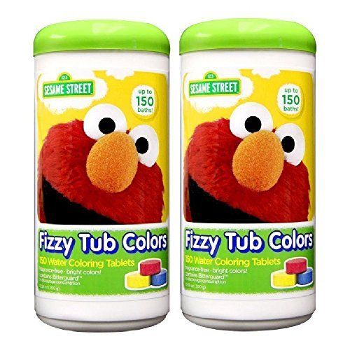 Sesame Street Fizzy Tub Color Tablets, 150 Baths - 2 Pack