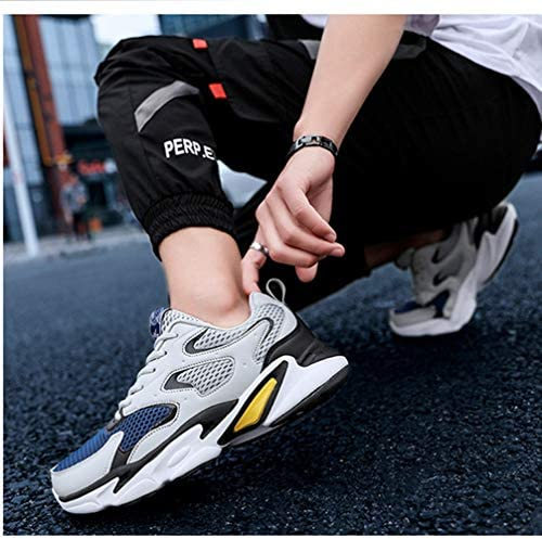 厚底 スニーカー メンズ ローカット スポーツシューズ レースアップ 低反発 カジュアルシューズ 軽量 滑り止め 通気性 メンズシューズ ウォーキング ランニング ジョギング ジム ダイエット 健康 メッシュシューズ