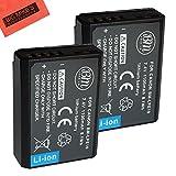 BM PREMIUM 2-Pack de baterías LP-E10 para Canon EOS Rebel T3, T5, T6, Kiss X50, Kiss X70, EOS 1100D, EOS 1200D, EOS 1300D Cámara digital