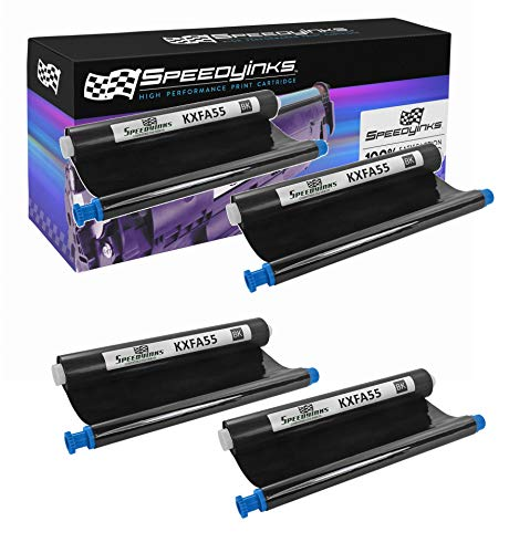- Speedy Inks - Compatible Panasonic KX-FA55 Black Fax Refill Roll (4-Pack)