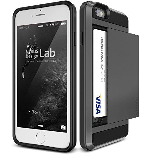 Verus Damda Slide Premium Hard Case mit Schutzfunktion und Schrammen inkl. extra Fach für Apple iPhone 6 Plus Crimson Red