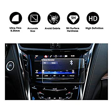 R RUIYA 2015-2018 Cadillac CTS 8In CUE infotainment Interface Touchscreen  Car Navigation Touch Screen Protector,Tempered Glass 9H Anti-Scratch and