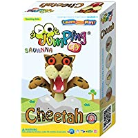 Jumping Clay Kinderknete, Gepard seti, C24 – 4 Savanna Series set Cheetah
