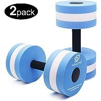 2a5cb623397 KLOLKUTTA Aquatic Dumbells, 2PCS Water Aerobic Exercise Foam Dumbbell Pool  Resistance,Water Aqua Fitness