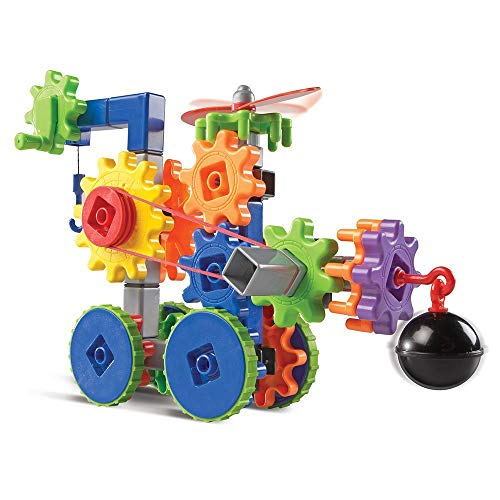 Learning Resources Gears! Gears! Gears! Machines in Motion, STEM, Gear Toy, 116 Pieces, Ages 4+