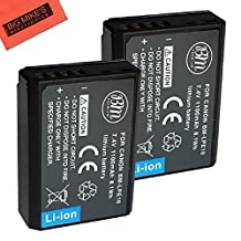 BM Premium 2-Pack of LP-E10 Batteries for Canon EOS Rebel T3, T5, T6, Kiss X50, Kiss X70, EOS 1100D, EOS 1200D, EOS 1300D Digital Camera