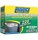 ProForce Commercial Trash Can Liners, Light Duty, 45-50 Gallon, 170-189 Liter