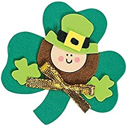 "12 ~ Leprechaun Magnet Foam Craft Kits ~ Approx. 2 3/4"" ~ New / Individually Packaged"