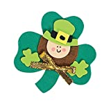 """12 ~ Leprechaun Magnet Foam Craft Kits ~ Approx. 2 3/4"""" ~ New / Individually Packaged"""