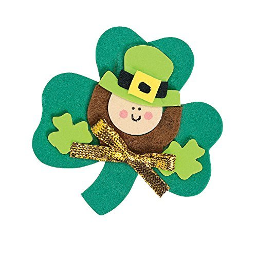 12 ~ Leprechaun Magnet Foam Craft Kits ~ Approx. 2 3/4