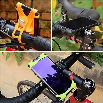 Universal Bike Phone Mount Bicycle Motorcycle Handlebar Cradles Holder for Galaxy S10 Plus S9 Plus Note 9 8 J7 Pro J8 Black OnePlus 7 Pro 6T 4.7-6.5 inch Phones LG V50 V40 G8 G7 ThinQ V35 Stylo 4