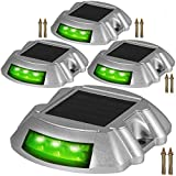 Happybuy Driveway Lights 4-Pack Solar Driveway