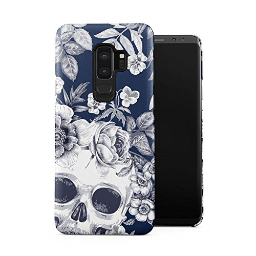 Tropical Floral Dead Pirate Skull Indie Hype Hipster Tumblr Plastic Phone Snap On Back Case Cover Shell for Samsung Galaxy S9 Plus