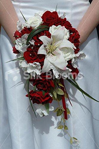 Modern Rose, Stargazer Lily & Alstroemeria Cascading Bouquet