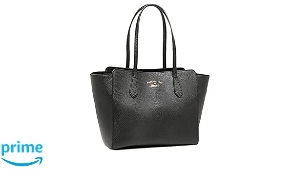 d1b5cf735cb6 Amazon.com: Gucci Swing Black Leather Small Shoulder Tote Bag 354408:  Clothing