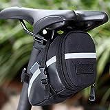 Ezyoutdoor Black Bicycle Rear Seat Trunk Bag Shoulder Handbag Bag Pannier Multi-functional for Biking Hiking Sports Riding Mountain Bicycle