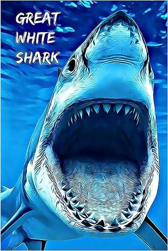 Gran Tiburón Blanco Notebooks Con Animales Para Niños