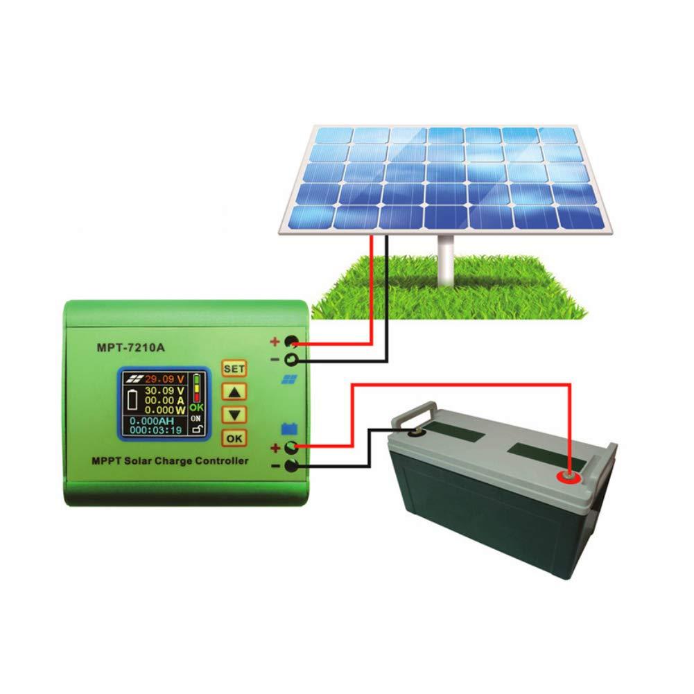 accessori elettrici Regolatore solare MPPT display LCD in lega di alluminio MPT-7210A Regolatore di carica pannello solare MPPT per batteria al litio