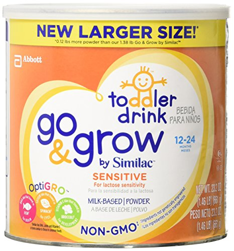 Similac Go and Grow Sensitive Non-gmo Milk Based Toddler Drink, Powder, 24 Ounce (Difference Between Similac Advance And Go And Grow)
