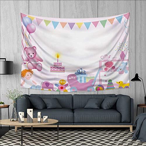 Anhuthree Kids Birthday Wall Hanging Tapestries Baby Girl Bi