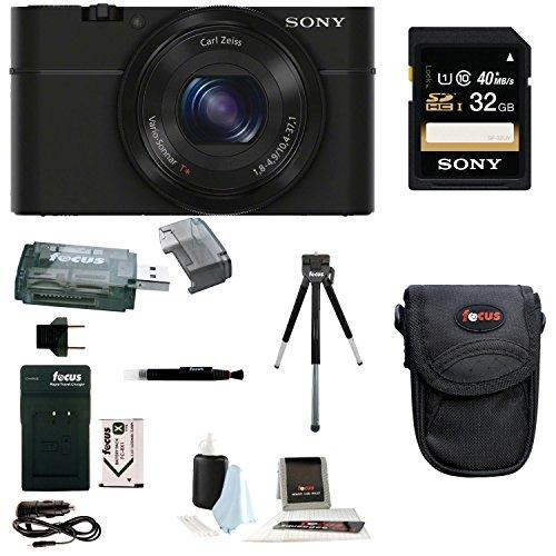 Sony Cyber-shot DSC-RX100 Digital Camera (Black) with 32GB Accessory ()