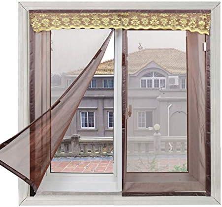 家計 磁気バックル ウィンドウ 網戸 マグネット式, 自動接着 磁気 自己インストール カーテン 砂のカーテン 無料パンチ-c W:150cmxh:120cm