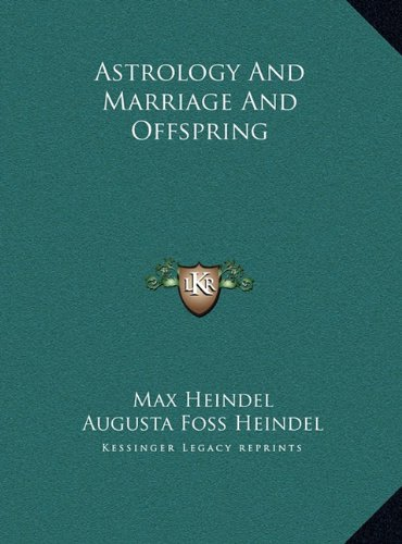 Astrology And Marriage And Offspring pdf epub