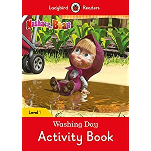Masha-and-the-Bear-Washing-Day-Activity-Book-Ladybird-Readers-Level-1