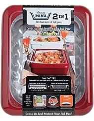 Fancy Panz FP21002 Casserole Portable Serveware, 13 x 11 x 3.5, Red