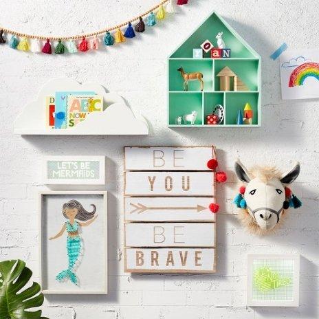 Llama Head Wall Décor, Wall decor, Baby decor, Toy animals - Pillowfort