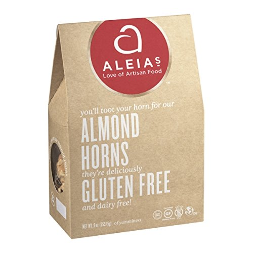 Aleia's Gluten Free Almond Horn Cookies 9oz (Pack of 3) by Aleia's Gluten Free Foods
