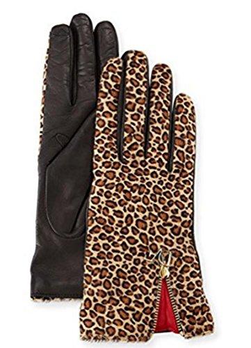Diane Von Furstenberg Leopard Calf Hairレザーグローブ6.5 Small $ 248