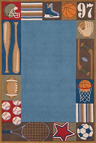 Nolita Rugs Lisburn Hand Tufted Polyester Denim Area Rug 2' X 3' (Whimsy Mo Lil Denim)