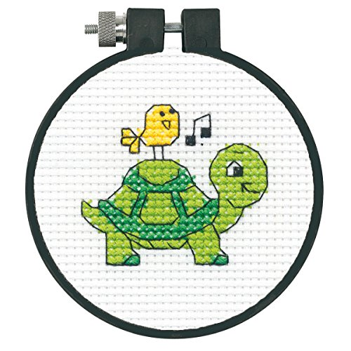 """Learn-A-Craft Turtle Counted Cross Stitch Kit-3"""" 11 Count"""