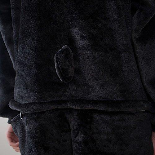 Peluche One Cosplay Inverno Tempo Libero Piece Costume Cwj Maiale Nero Animale Adult Unisex Pigiama Ispessimento YHtUtI