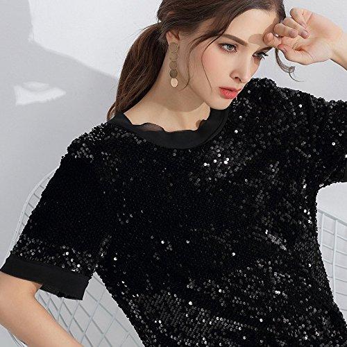 mm Jin Seins Noir Fat big 95 2018 S Nouveau 85 80 de Robes Parti Black Robe et MiGMV d't Robe soire Sequins BRSqYxwTgn