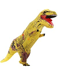 Unisex Jurassic T-Rex Inflatable Costume Dinosaur Fancy Dress