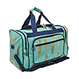 Gold Feather Print NGIL Canvas Carry on 17'' Duffle Bag