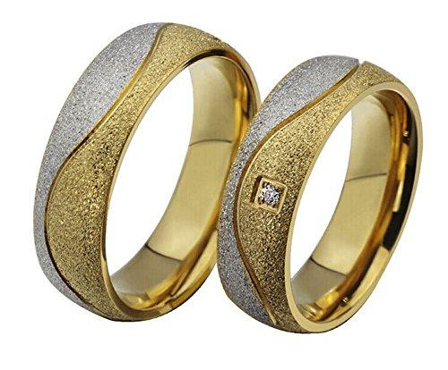 La nueva pareja anillos 18K chapado en oro titanio acero Anillos de Boda Anillos de Compromiso Wholesale cr-027, Men, 13