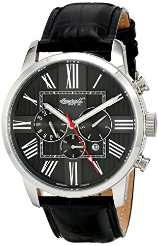 Ingersoll Men's IN1409BK Painted Analog Display Automatic Self Wind Black Watch