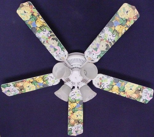 Ceiling Fan Designers Ceiling Fan, Zootles Baby Animals Jungle, 52'' by Ceiling Fan Designers