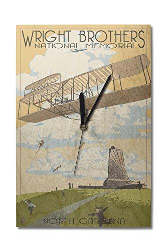 Lantern Press Outer Banks, North Carolina - Wright Brothers National Memorial (10x15 Wood Wall Clock, Decor Ready to Hang)