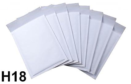 10 x Sobres Acolchados Hechos Por Net4Client - Bolsas De Burbujas Bolsas Blancas Postales Expedidores De Burbujas Embalaje Rápido & Fácil H18 Tamaño ...