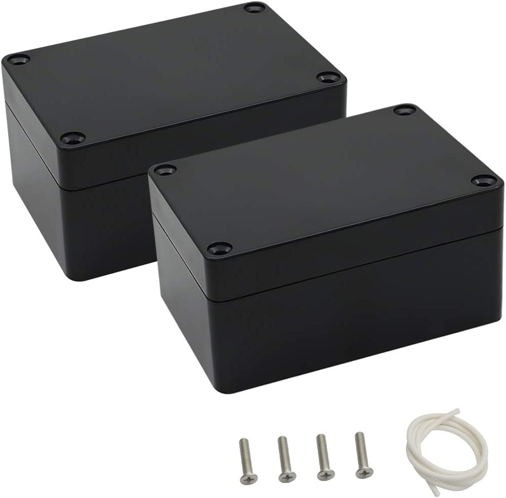 82x57x33mm Black ABS Plastic Enclosure Small Project Box For Electronic Circuit
