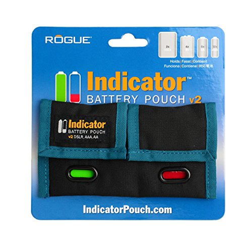 Battery Pouch - Rogue Photographic Design v2 Indicator Battery Pouch, Black/Rogue Blue, Compact
