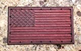 Leather Patch - American Flag - Hand Tooled 4'' x 2.25'' - United States of America USA